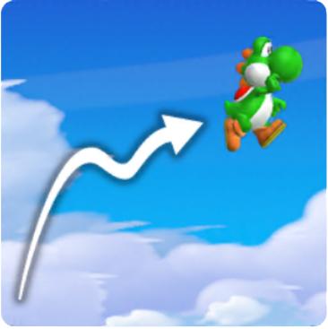 Mario Yoshi Flutter Jump