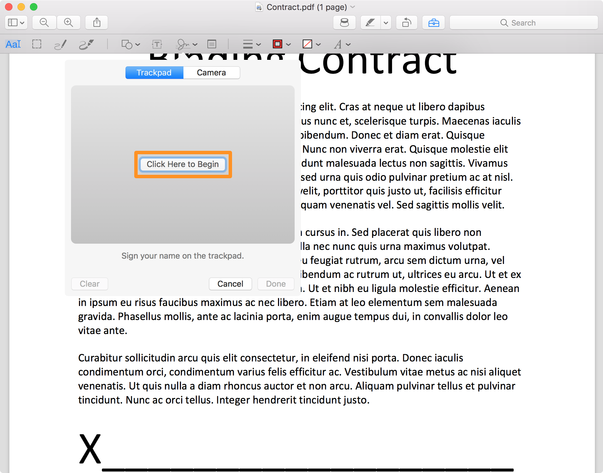 sign pdf on mac
