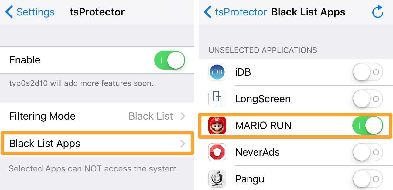 Play Super Mario Run on a Jailbroken Device