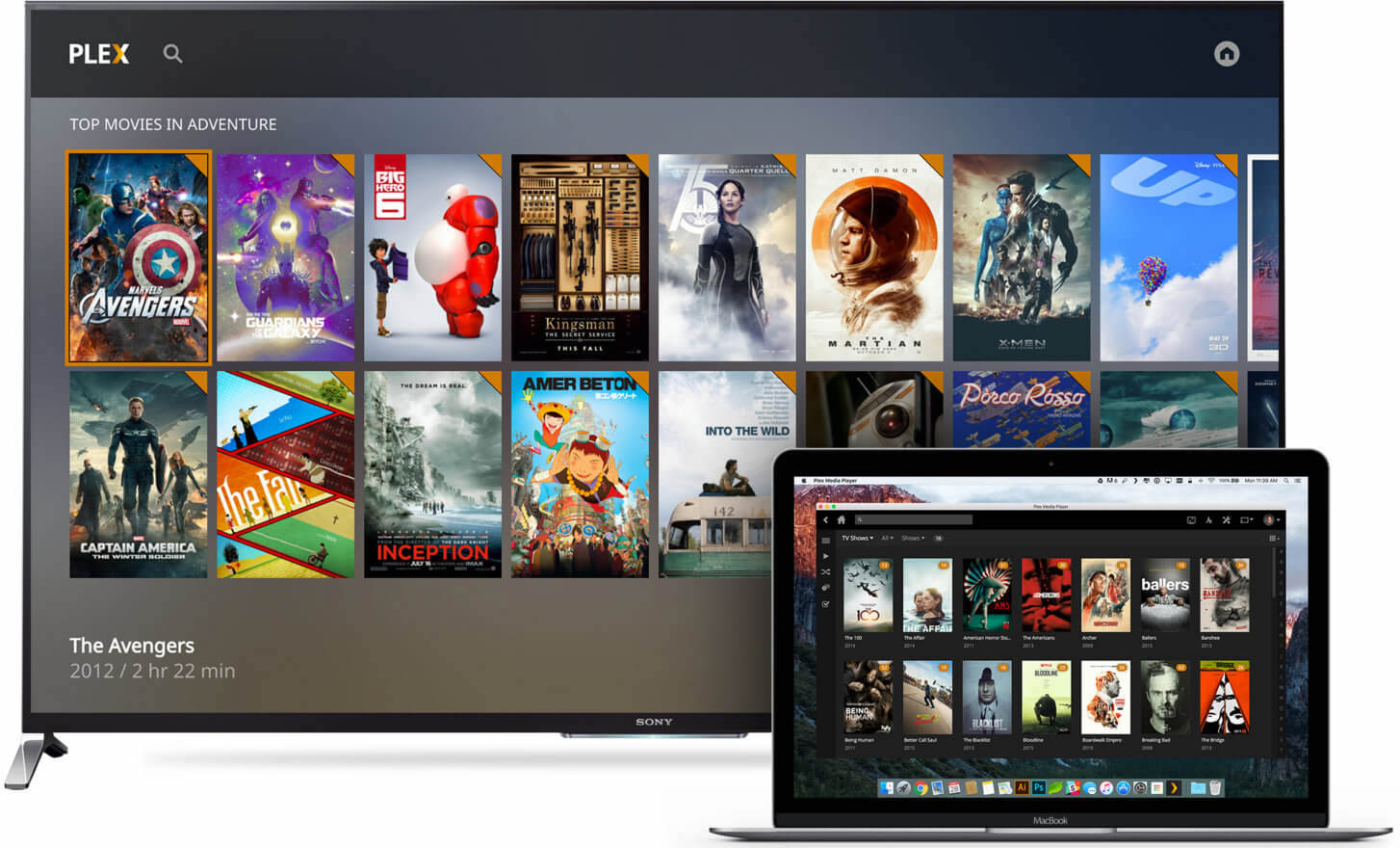 Plex Media Player TV MacBook teaser 001