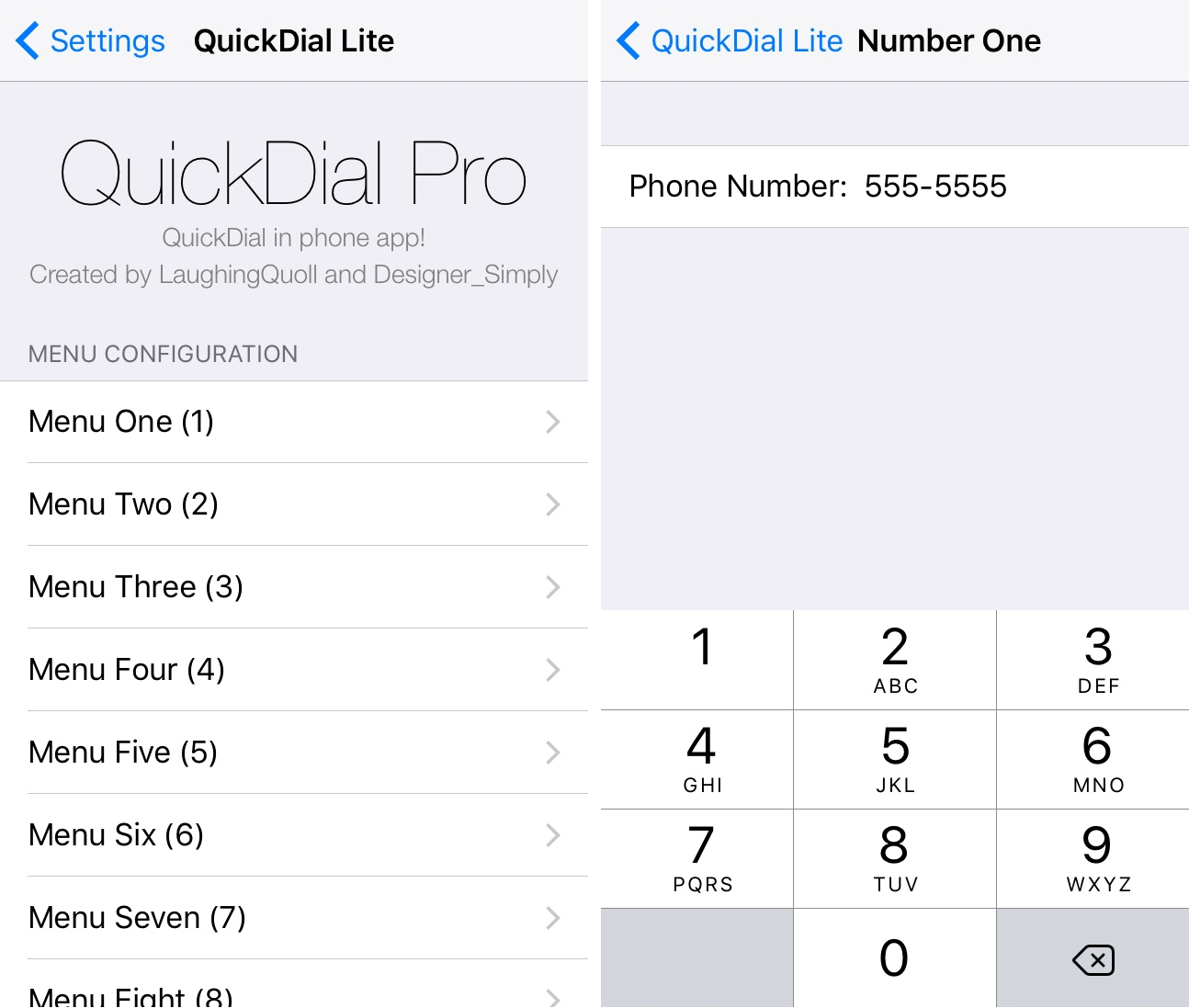 QuickDial Pro Preferences Pane
