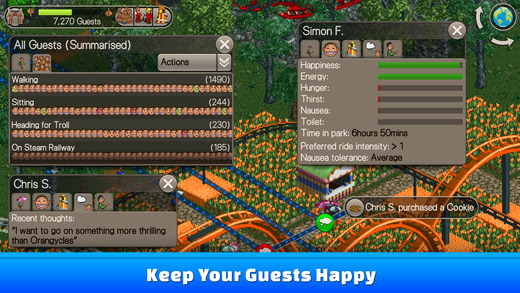 RollerCoaster Tycoon Classic hits iPhone and iPad