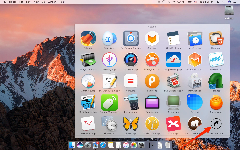 Setapp for macOS Dock Mac screenshot 001