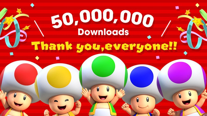Super Mario Run 50 million downloads teaser 001