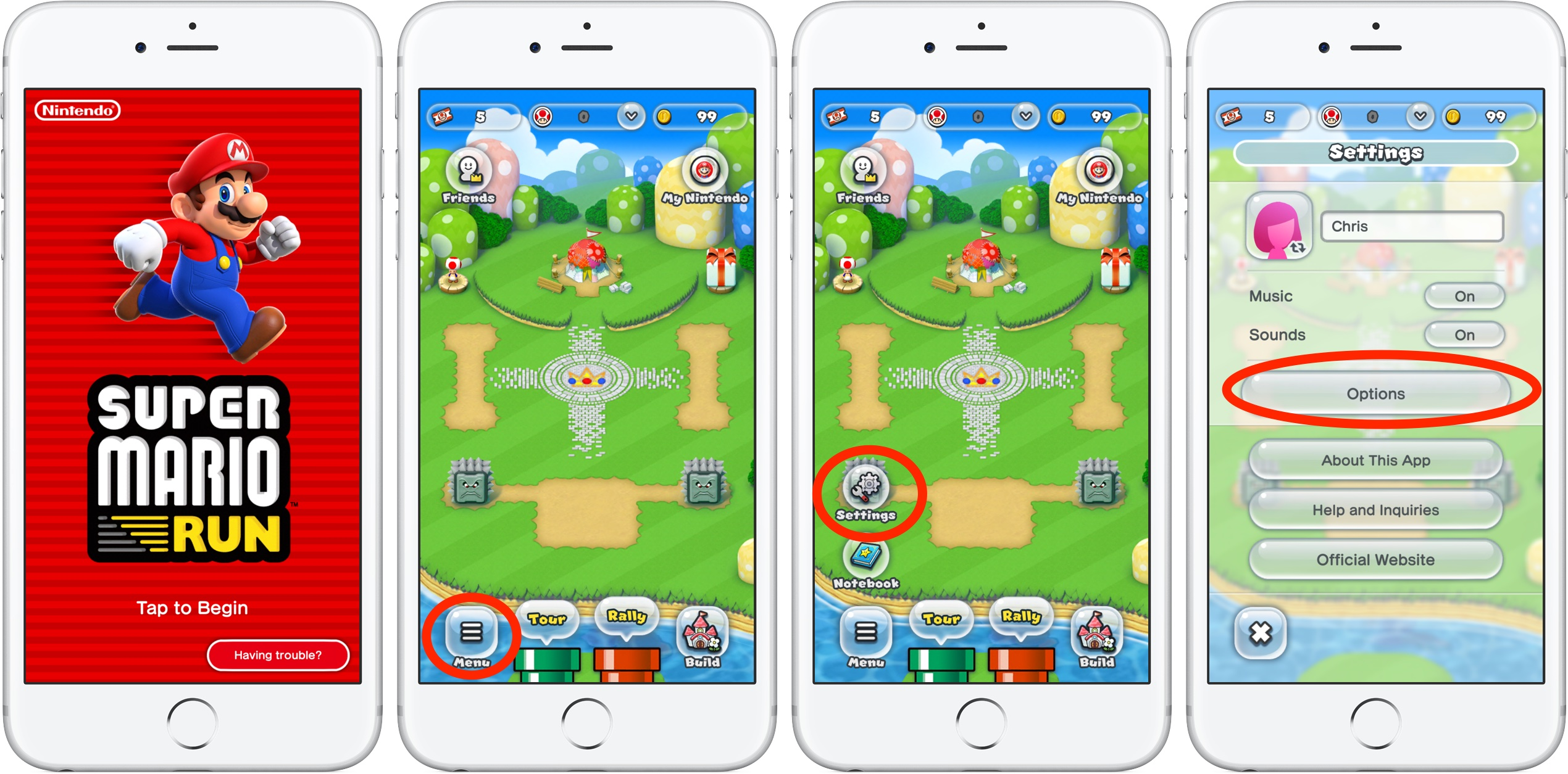 Super Mario Run Power Saving mode iPhone screenshot 001