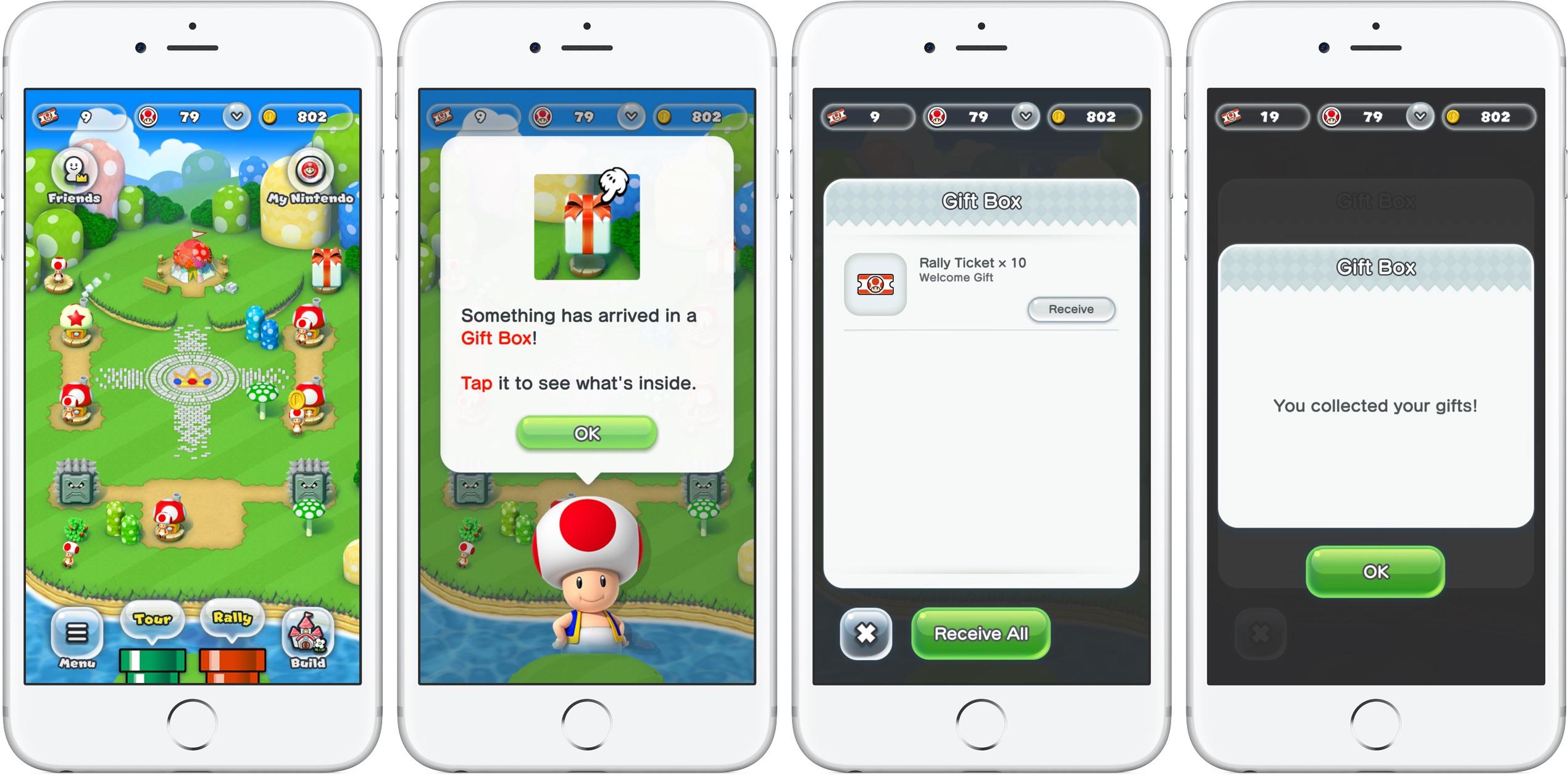 Super Mario Run free Rally Tickets gift iPhone screenshot 001
