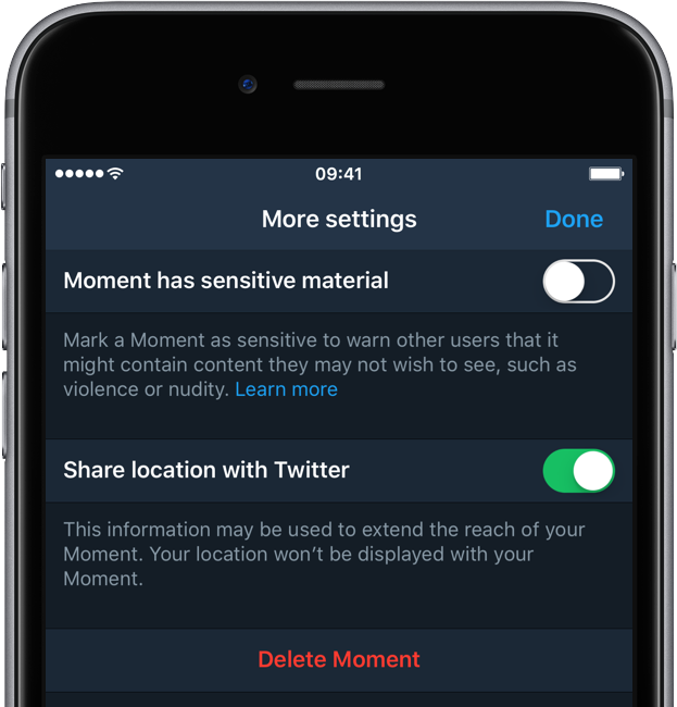 Twitter for iOS Moments iPhone screenshot 002