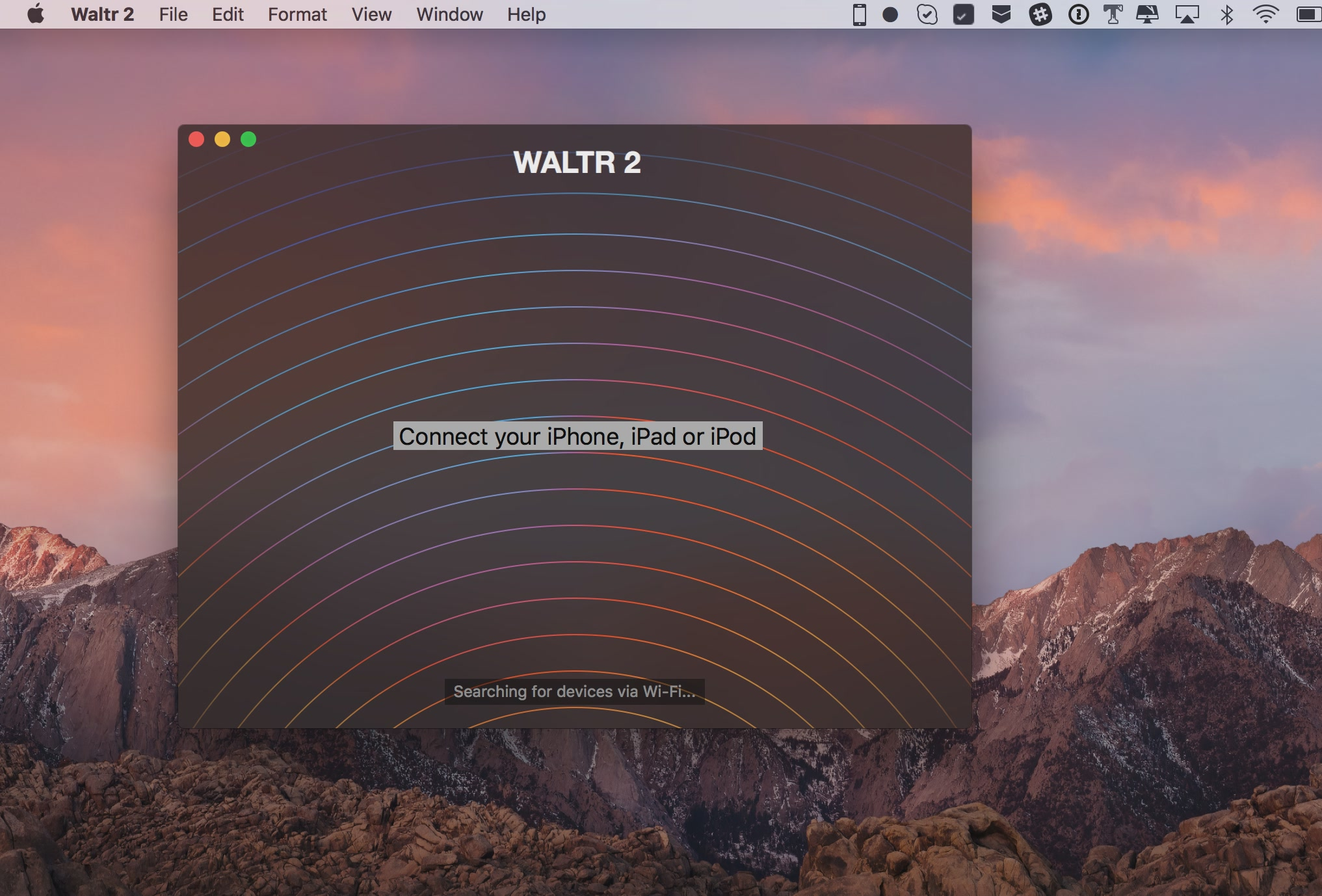 Waltr 2 for macOS connect your device Mac screenshot 001