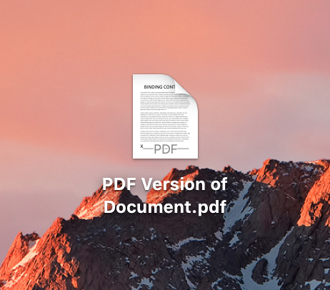 Word File Saved as PDF