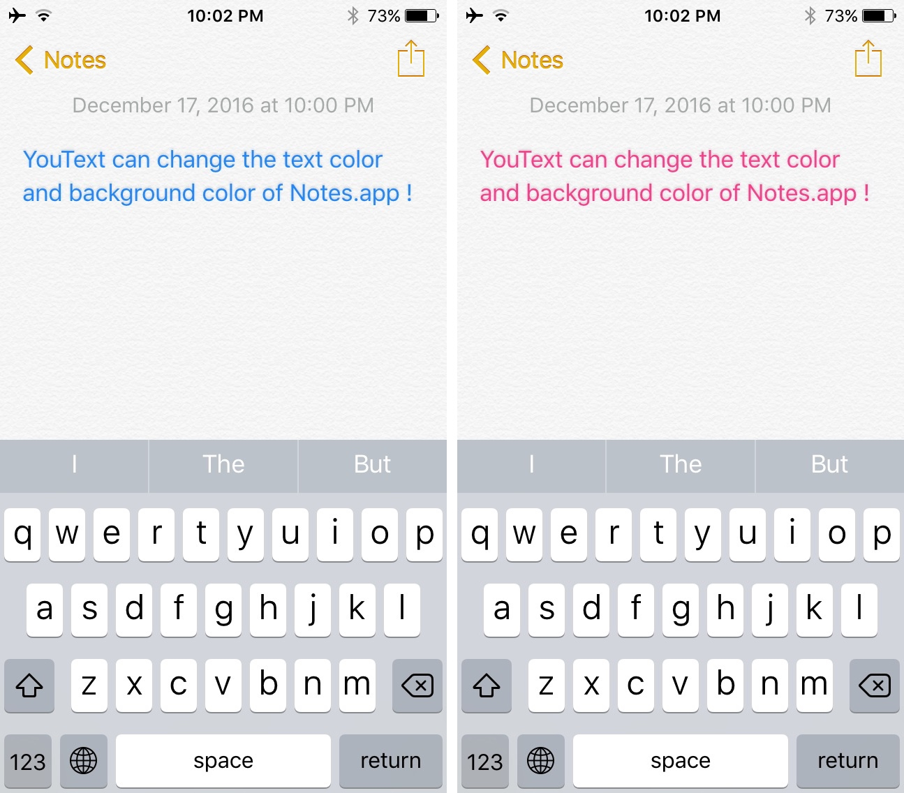 YouText Color Change Text Notes App