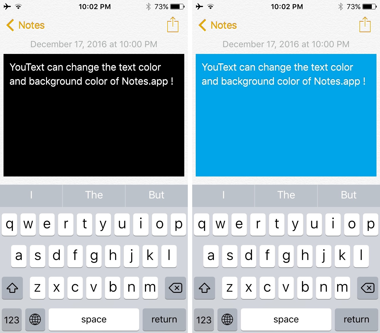 YouText Notes App Color Background Change