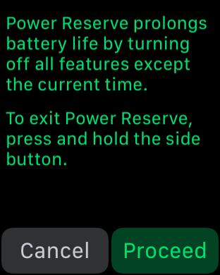 apple watchOS3 power reserve