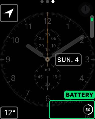 apple watchos3 complication