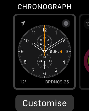 apple watchos3 customise screenshot