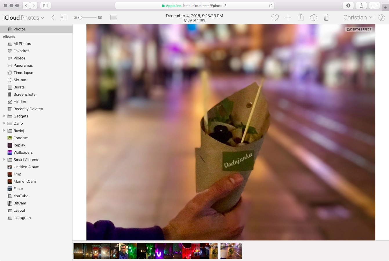 iCloud web app photo scrubber web screenshot 002