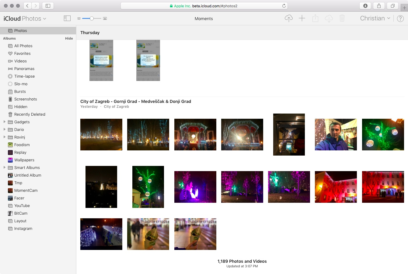 iCloud web app sidebar web screenshot 002