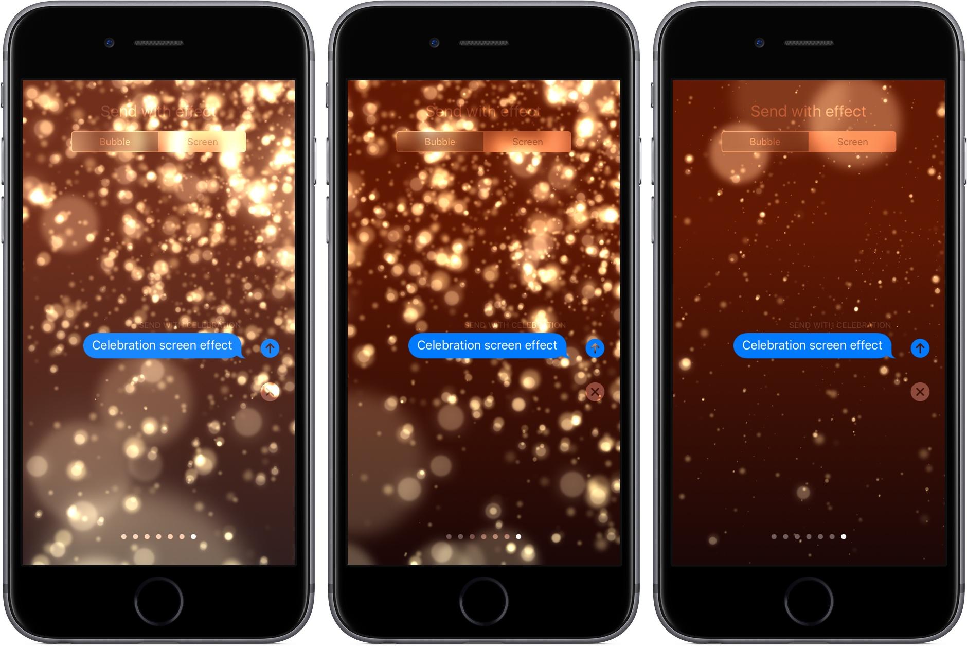 iOS 10.2 Messages Celebration screen effect iPhone screenshot 001