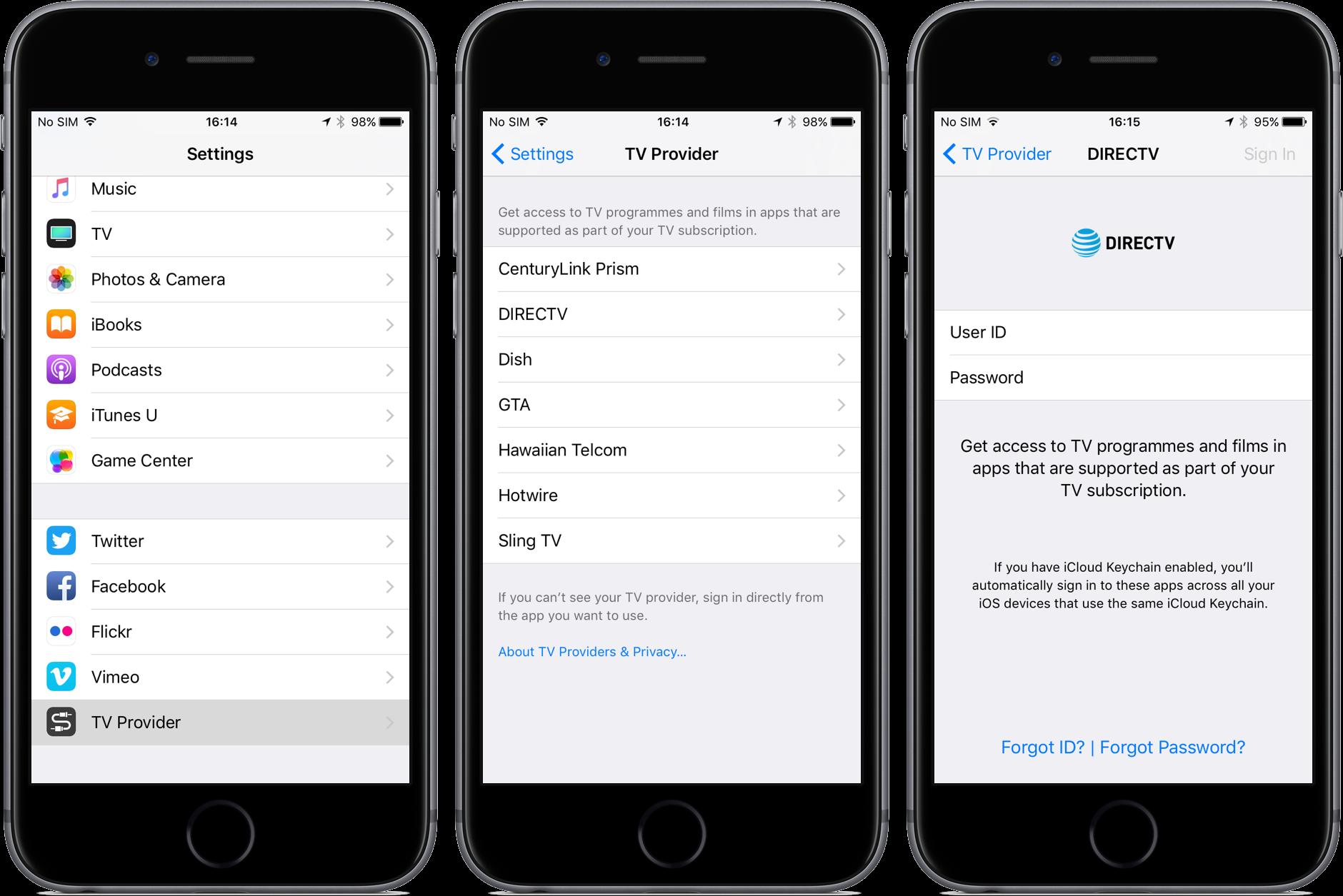 iOS 10.2 beta 4 Single Sign On