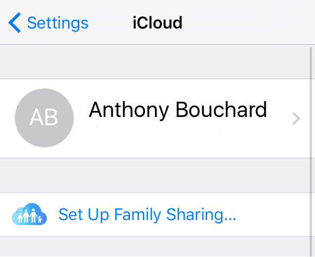 iCloud Notes not syncing - make sure iPhone iCloud Signed In