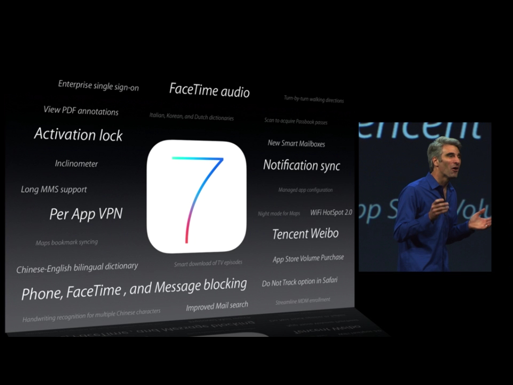 ios7 slide keynote facetime audio