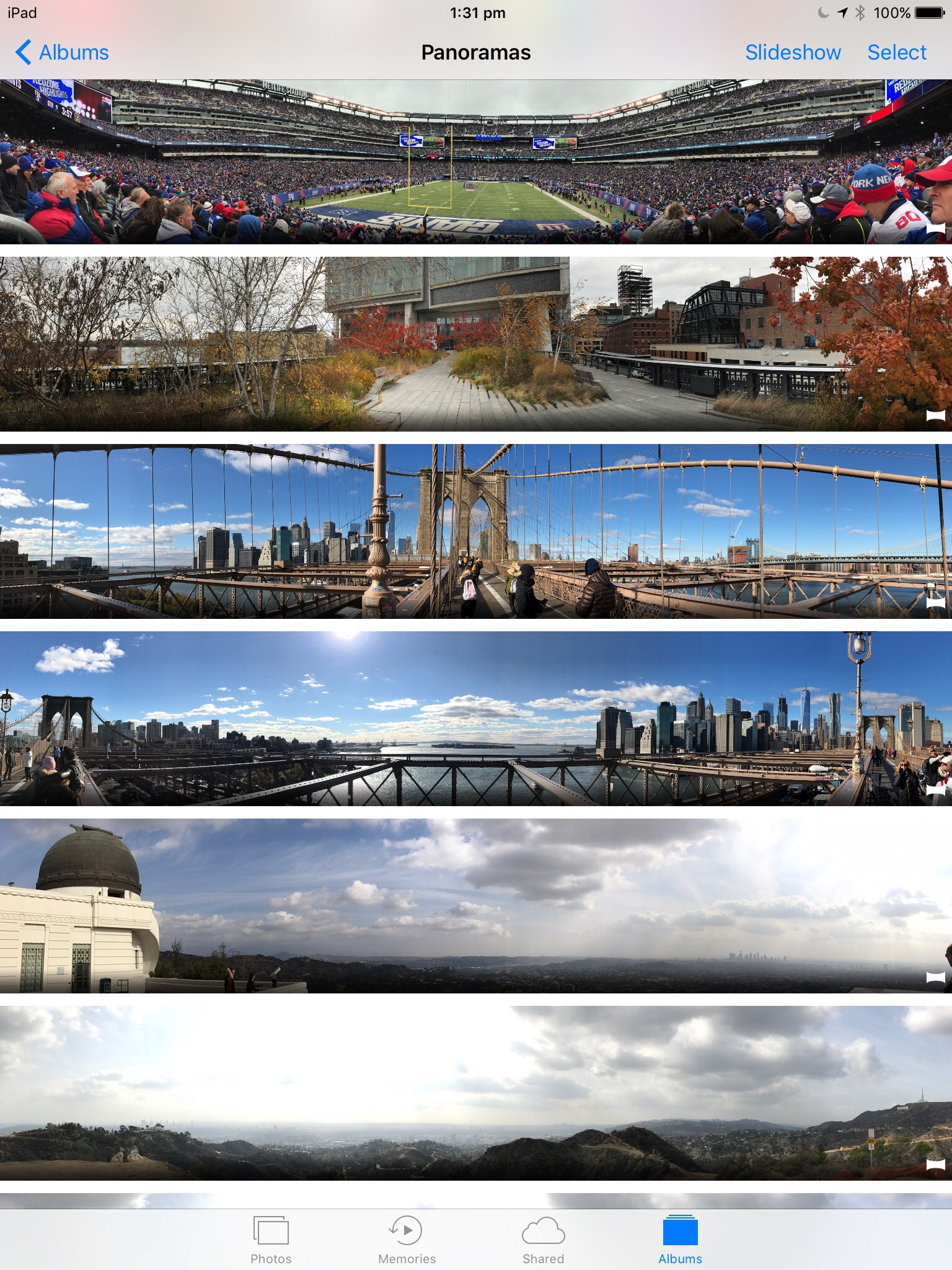 ipad pano tutorials show all photos