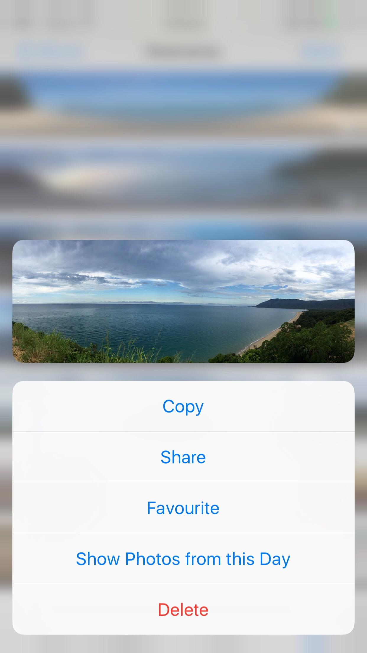 iphone tute mostrar todas las fotos de esta captura de pantalla del día