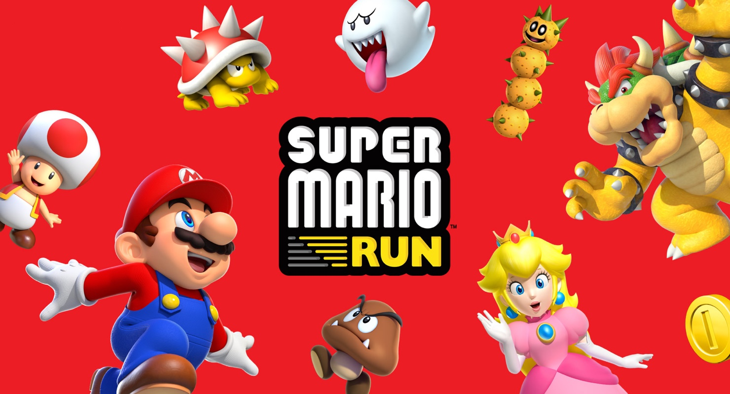 super mario run banner header