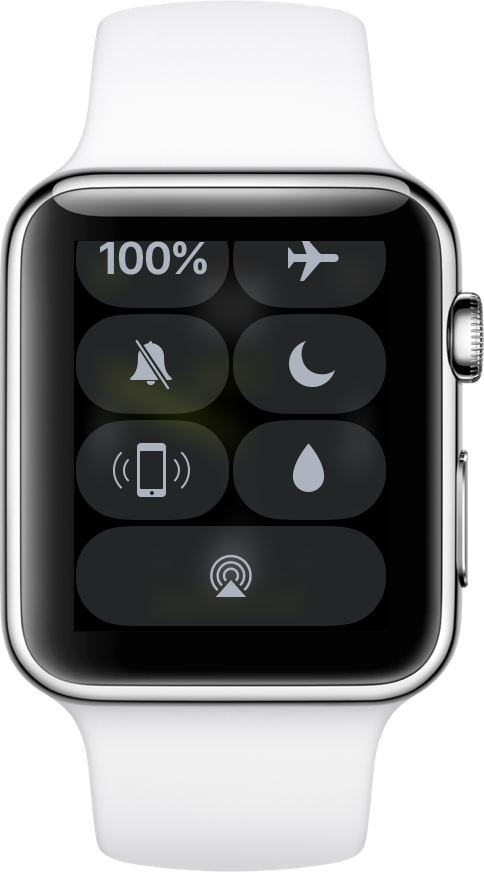 watchOS 3.1.1 Control Center Apple Watch screenshot 001