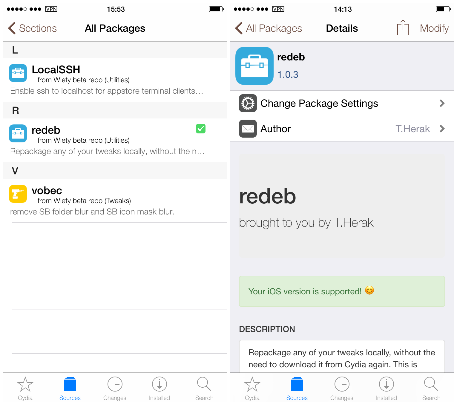 How to save jailbreak tweaks on your device with redeb