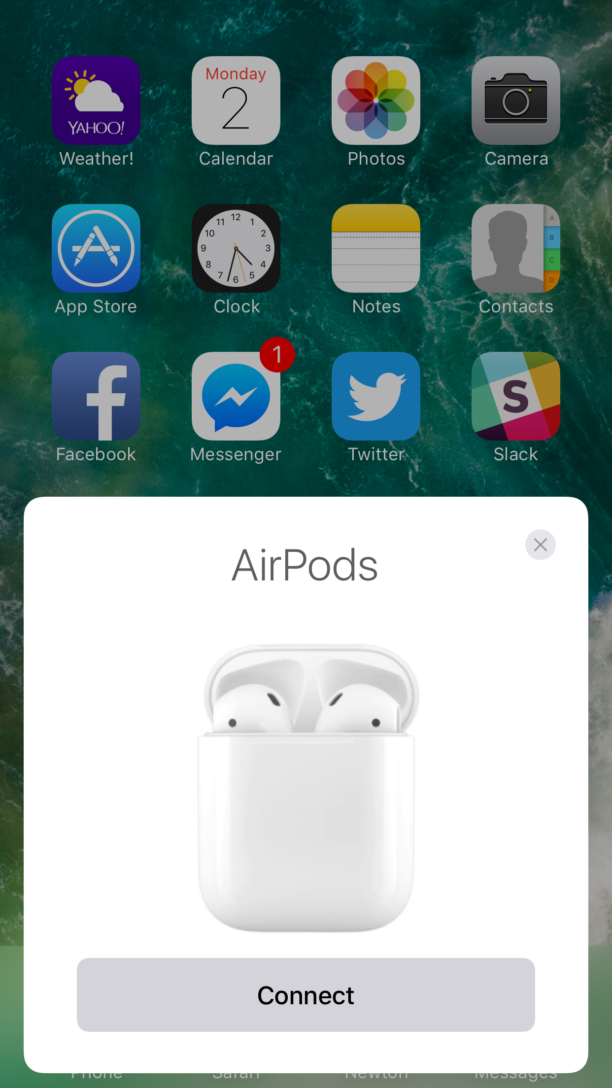 AirPods Connect Button