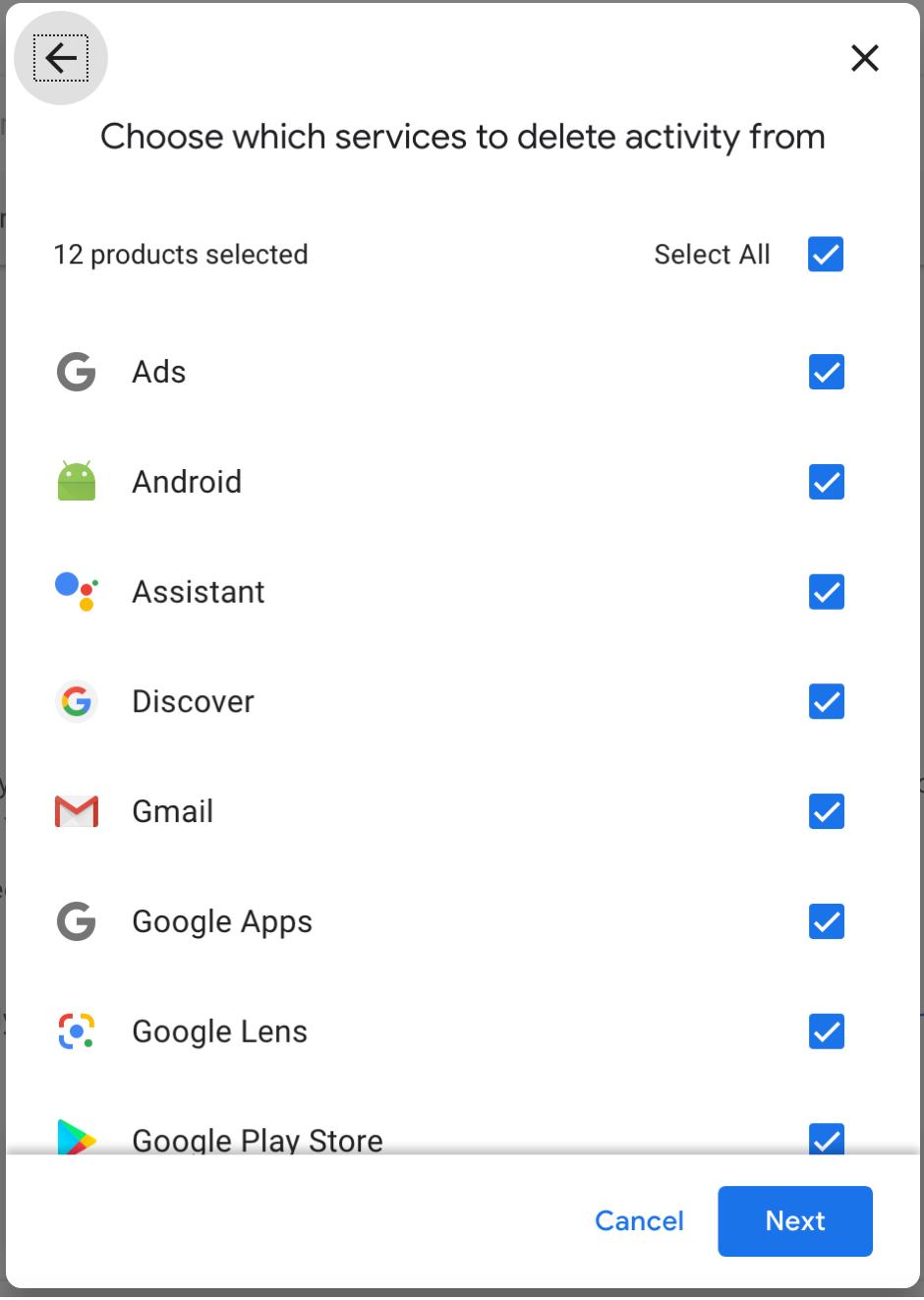 Google Delete Services