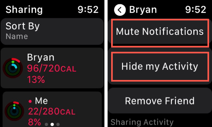 Hide Activity or Mute Notifications on Apple Watch