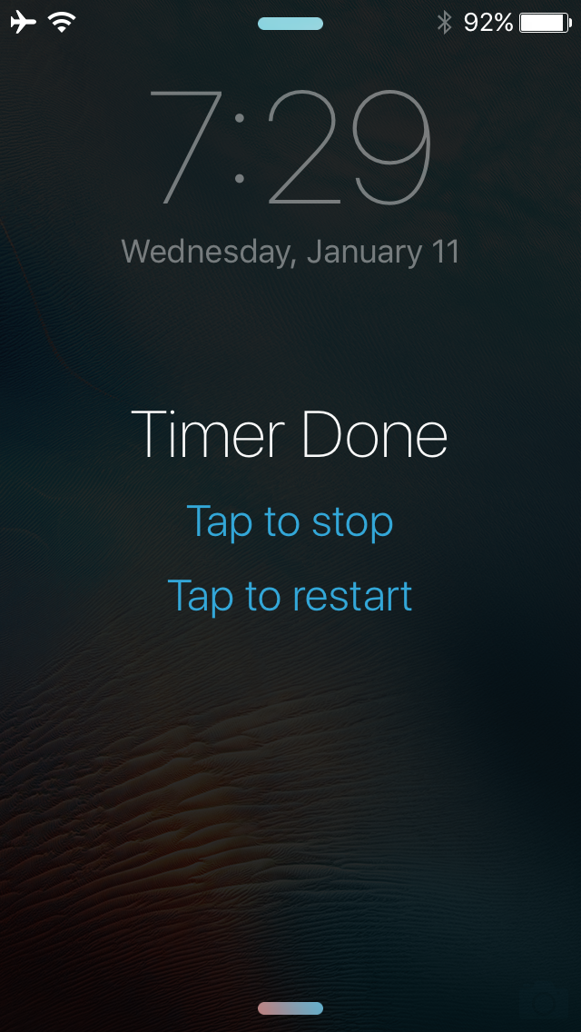 OnceMore lets you repeat iPhone timers right from the Lock ...