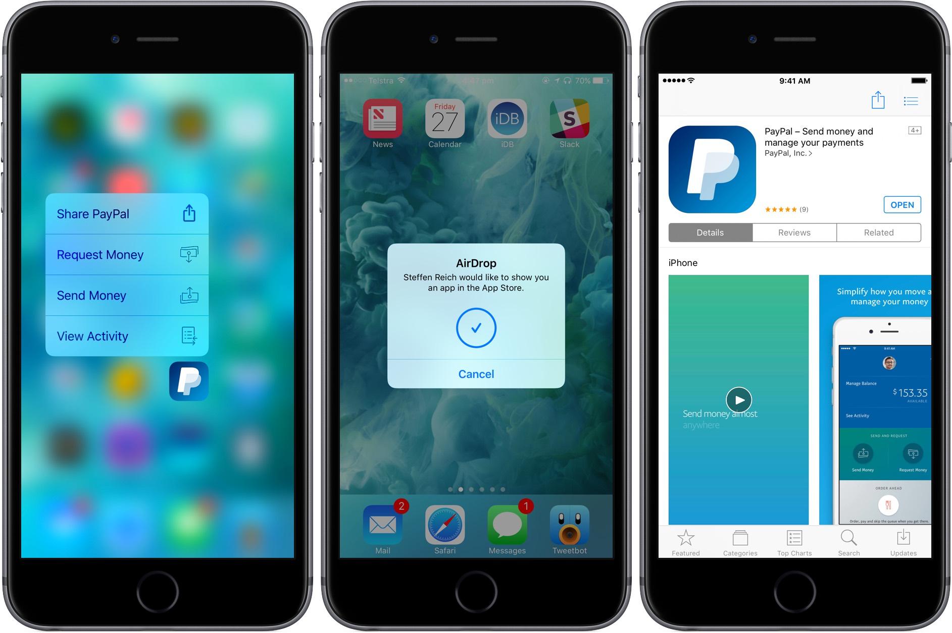 Compartir aplicaciones con AirDrop