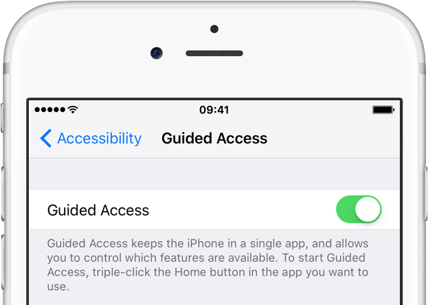 Guided Access on iPhone