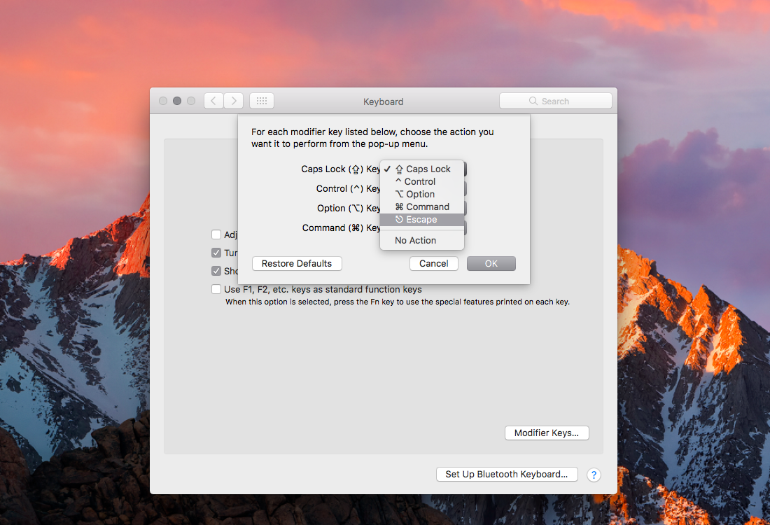 Edit modifier keys on macOS