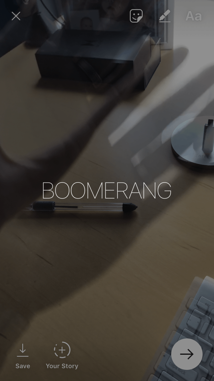 turn live photo into boomerang