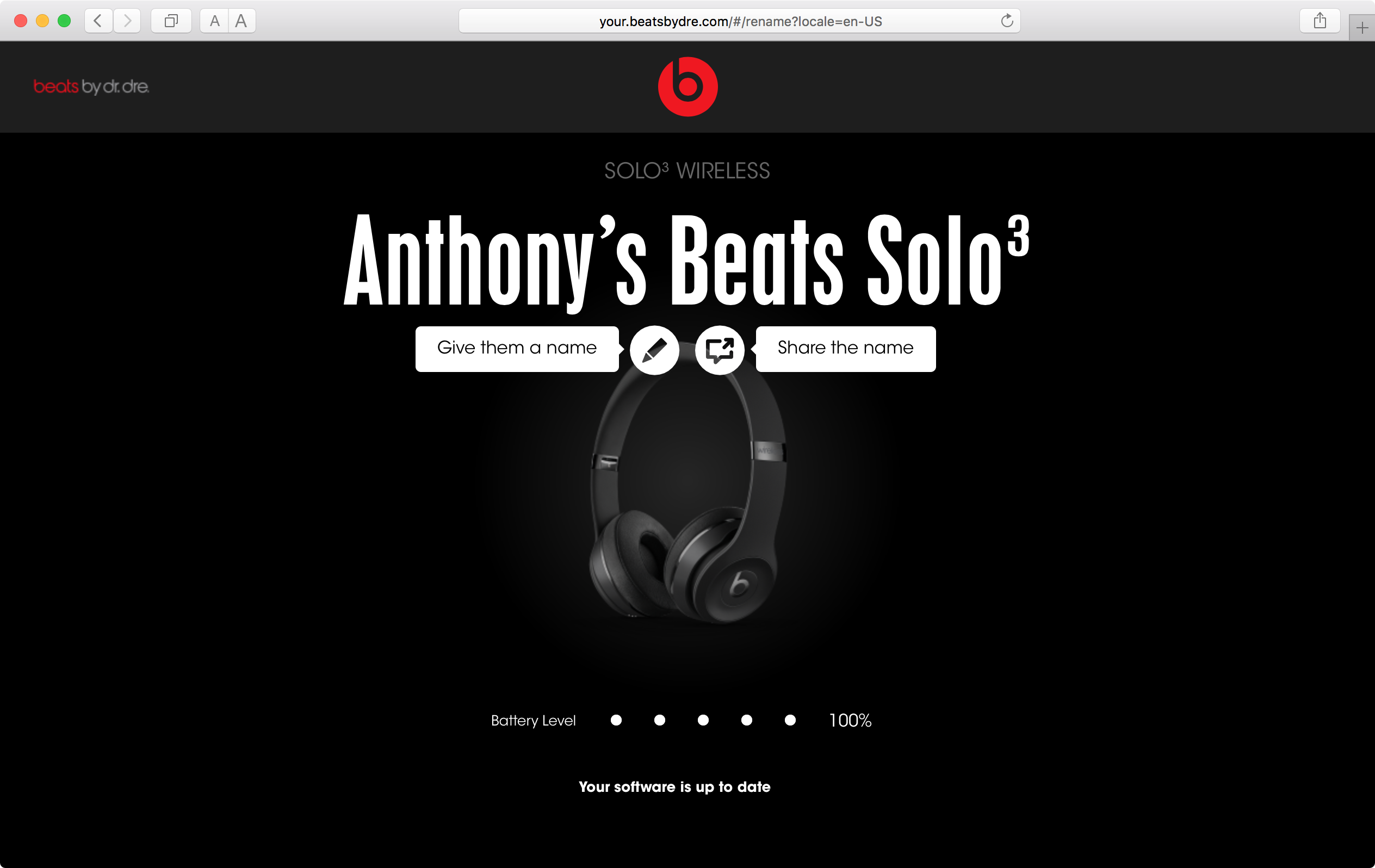 Information about your Beats accessory