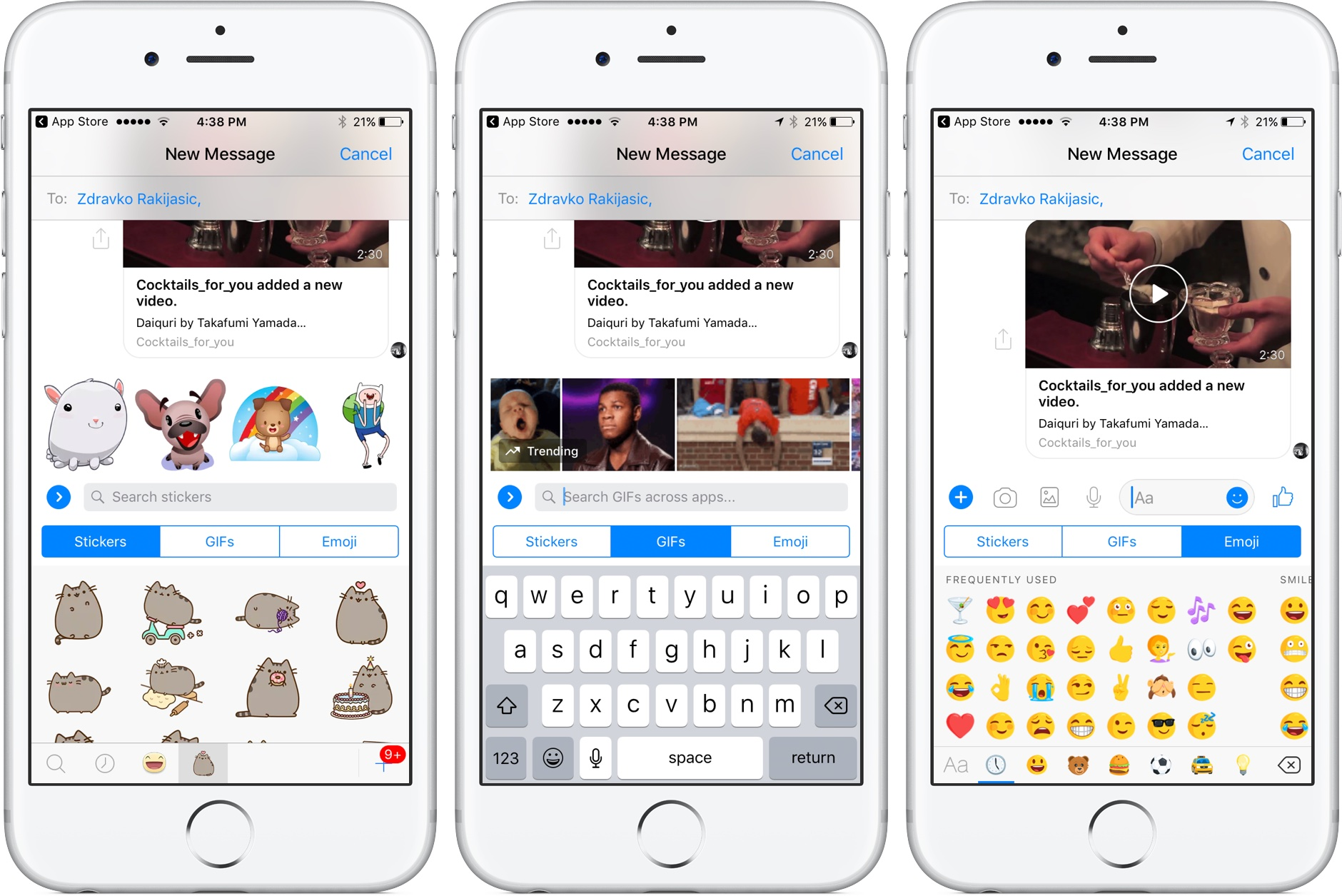 Facebook Messenger testing iOS 10 Messages-like chat interface redesign