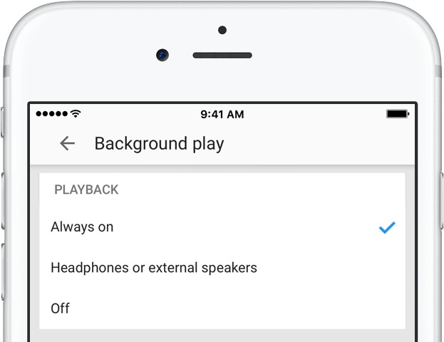 adjust background playback settings