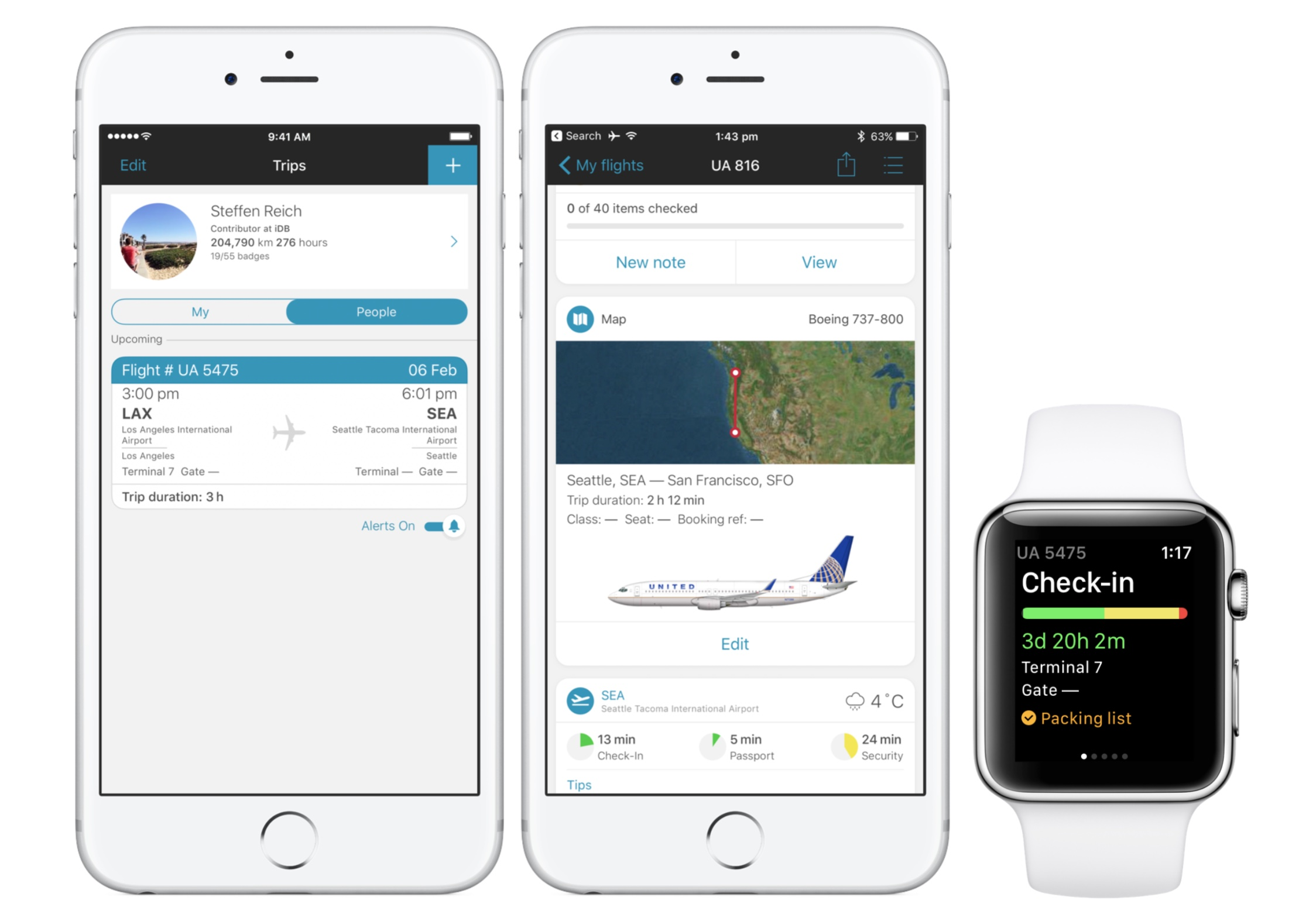 flight tracker apps for iphone - app in the air