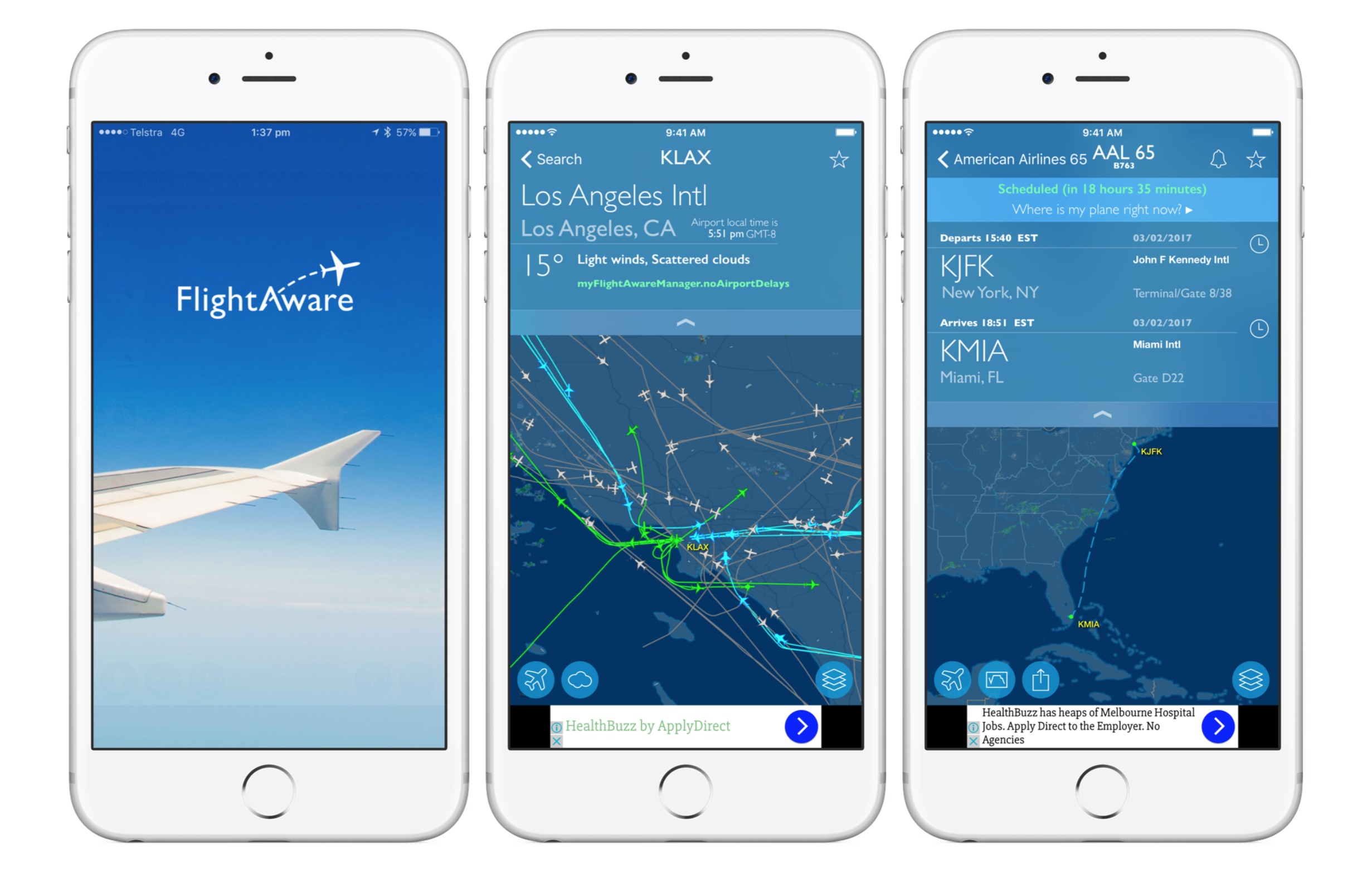 flight tracker apps for iphone - flightaware