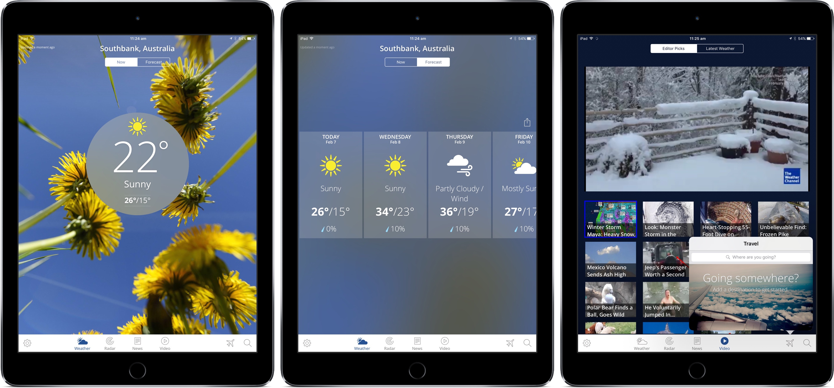 best weather apps for ipad - The Weather Channel app for iPad