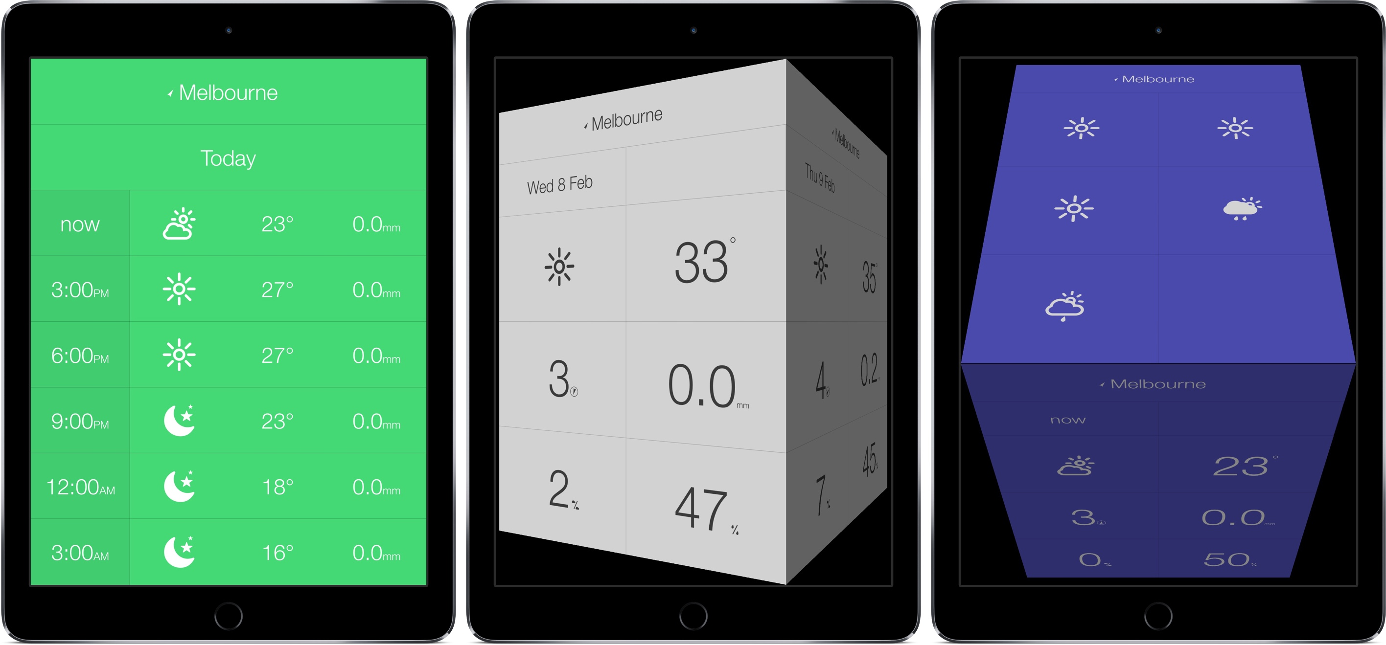 best weather apps for ipad - Weather Cube for iPad