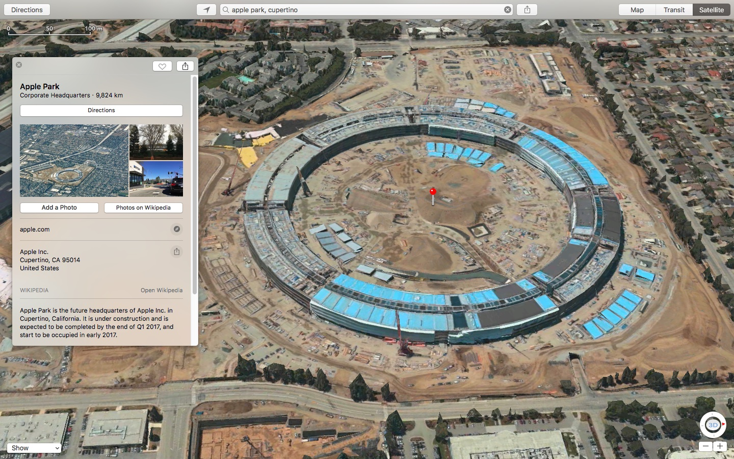 3D Satellite Imagery And Related Details For Apple Park Go Live On Maps