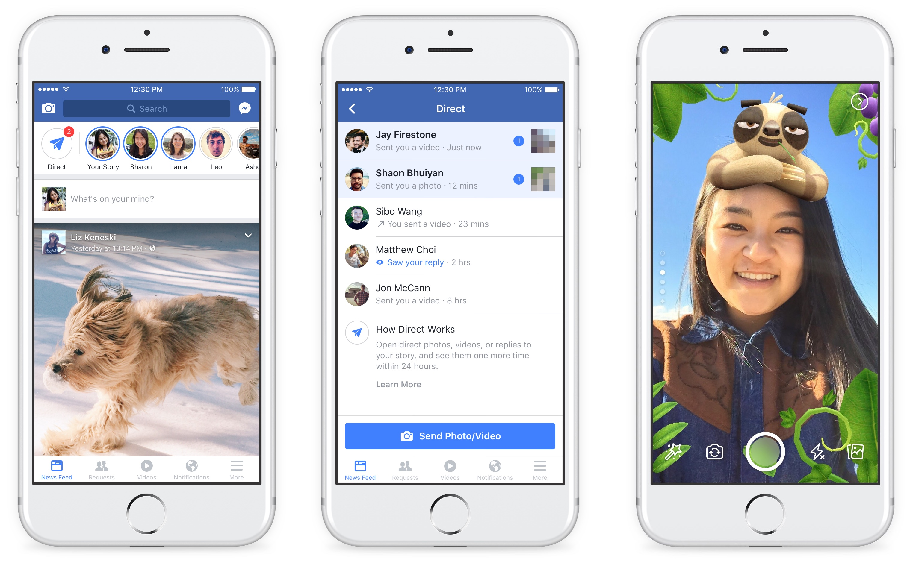 Facebook adds Snapchat-style effects and auto vanishing Stories to its mainland app