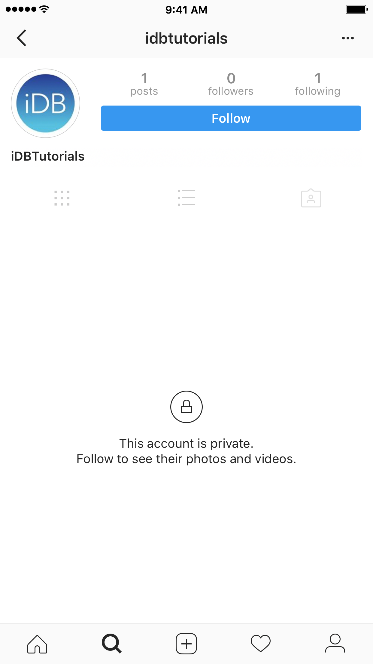 This Instagram account is private