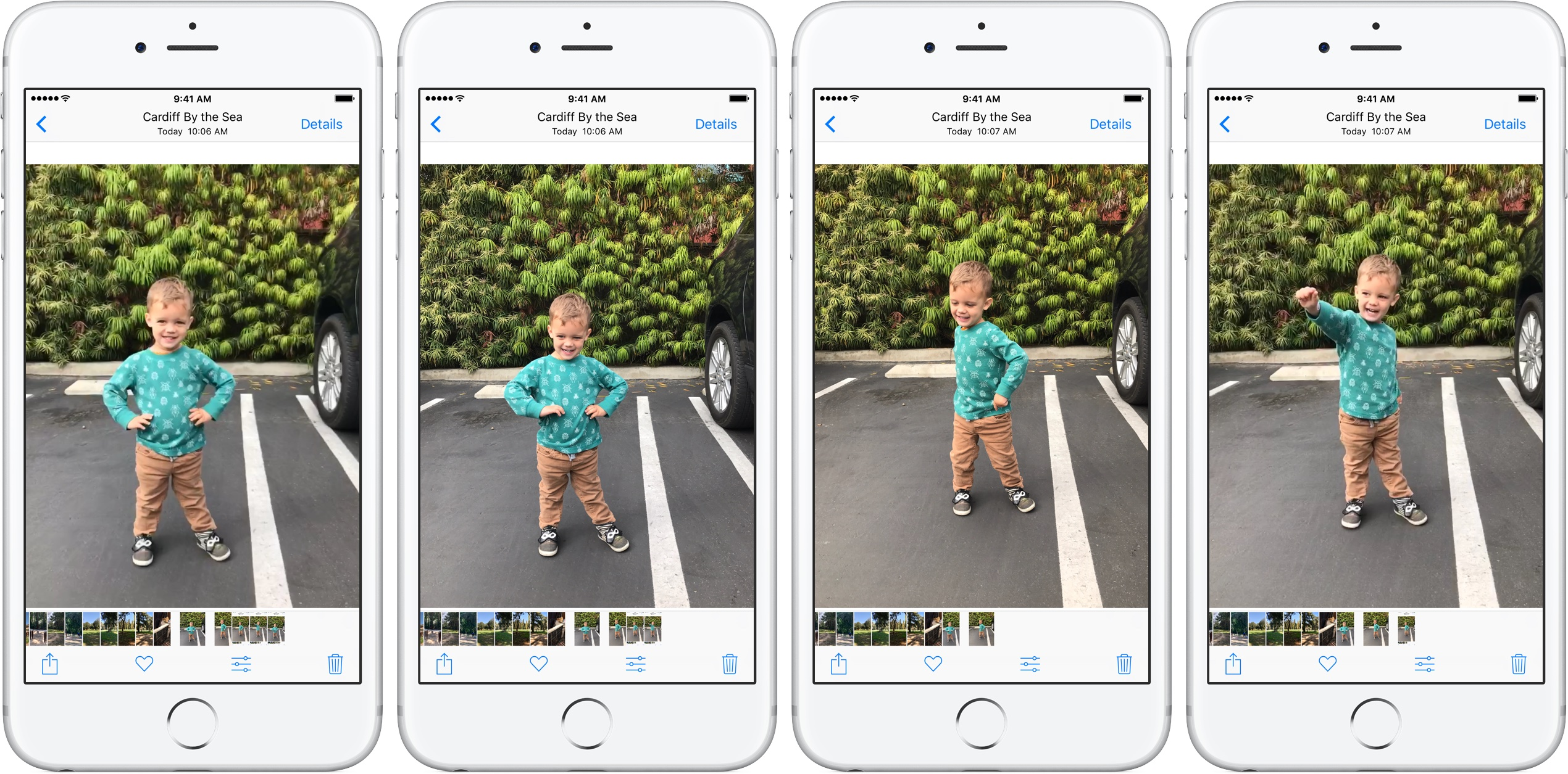 How to select different still frames of Live Photos