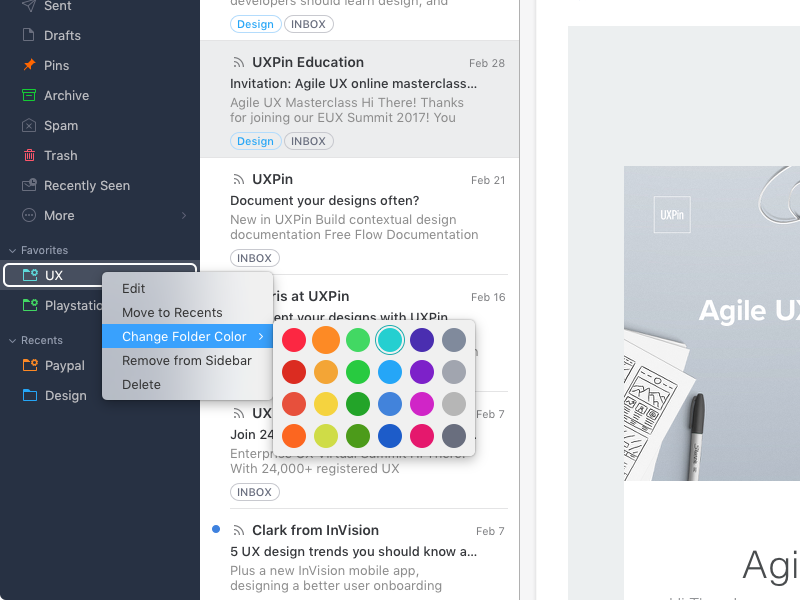 Spark for Mac gains labels, better folder management