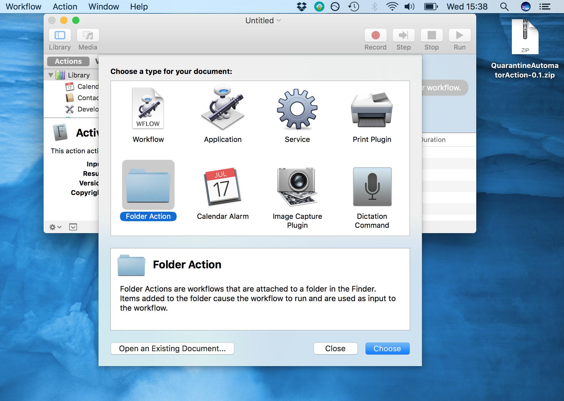 change airdrop folder